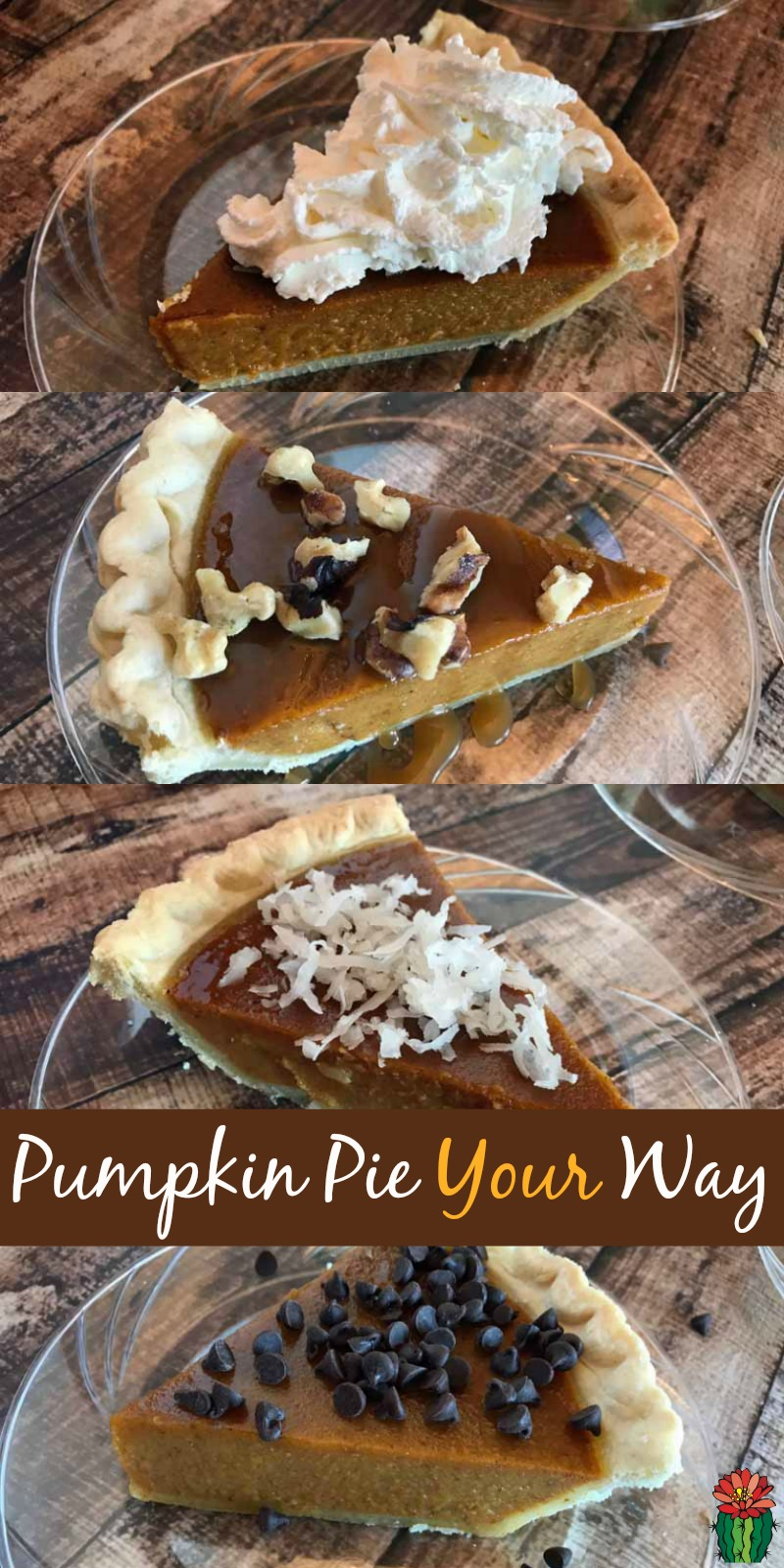 Ready to serve an extra special fall dessert idea with minimal effort? Make a pumpkin pie toppings bar, everyone can eat pie their own way.