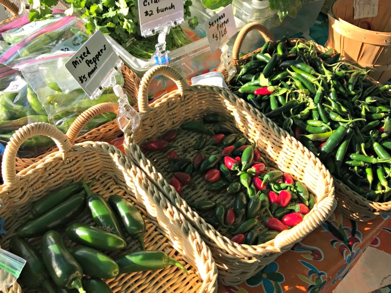 Peppers available at farmers market in Tucson