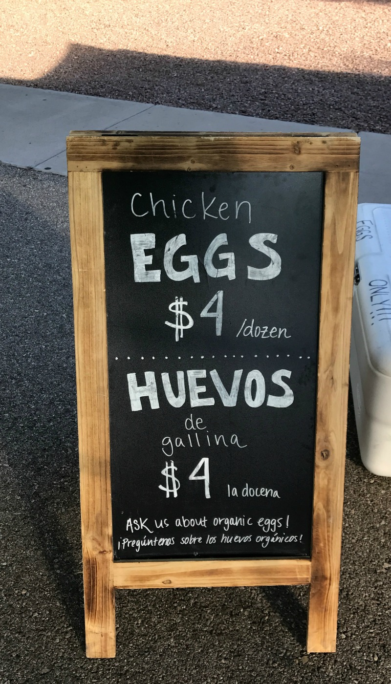 fresh eggs at the farmers in Tucson