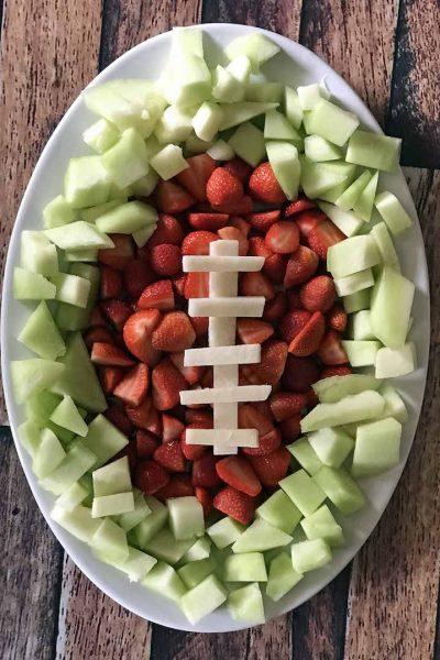 Easy Football Fruit Tray