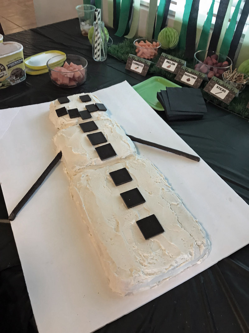ake an easy minecraft cake for an easy minecraft birthday party