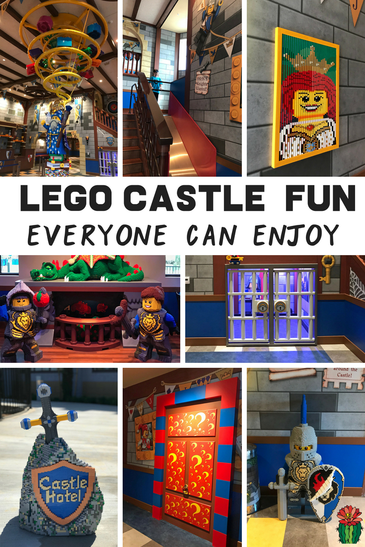Check out all the LEGO fun everyone can check out at the LEGOLAND California Castle whether you are a guest or not. Plus check out all things your kids will love about the new LEGOLAND Castle hotel just north of San Diego in Carlsbad, California. It's located just outside of the LEGOLAND theme park and the perfect travel destination for LEGO loving families. Click through to read about the fun LEGO surprises, exclusive LEGOLAND hotel benefits, and see pictures of the hotel and the three different room themes: knights, wizards, and princesses. #LEGOLAND #Castle #SanDiego #FamilyTravel