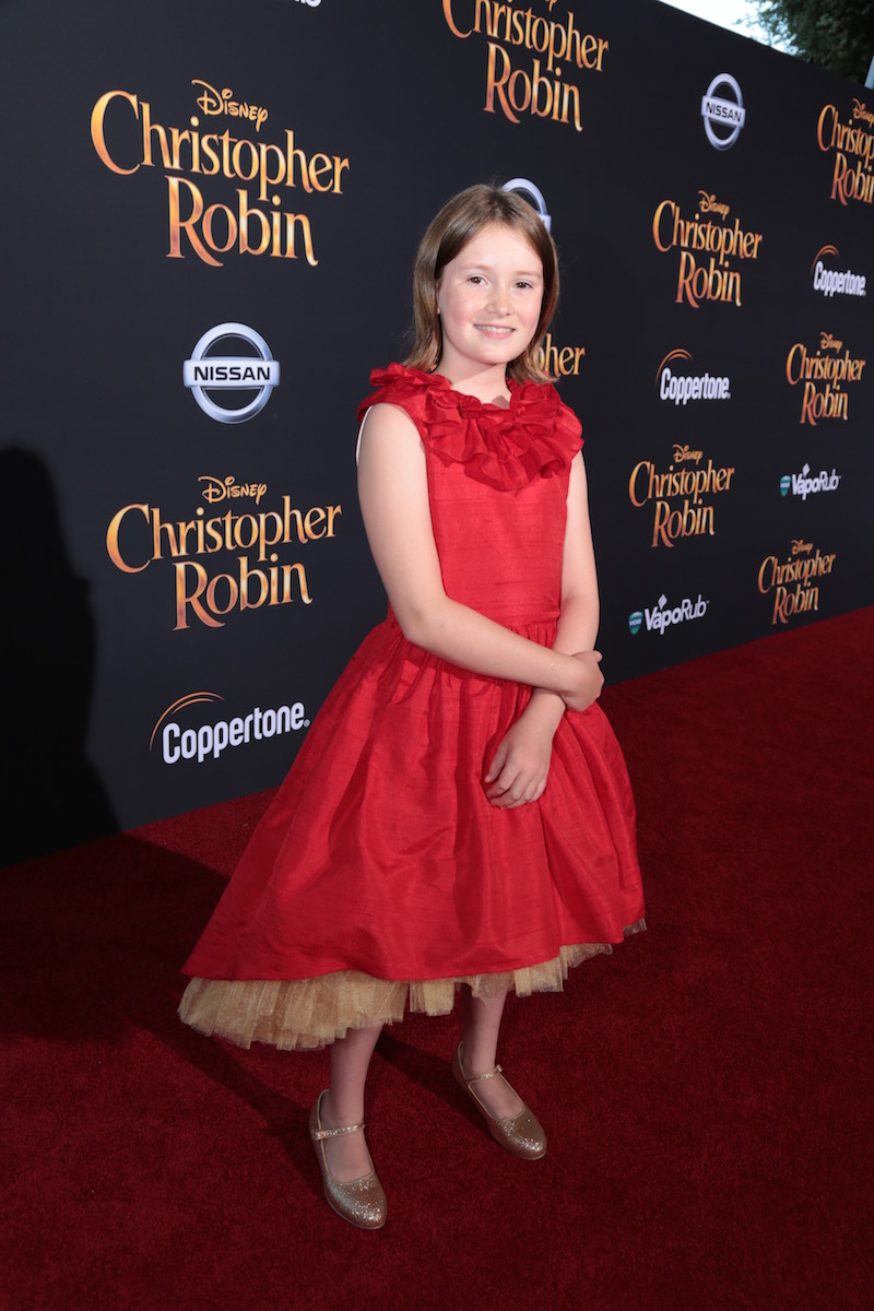 Bronte Carmichael at the Christopher Robin Red Carpet Premiere