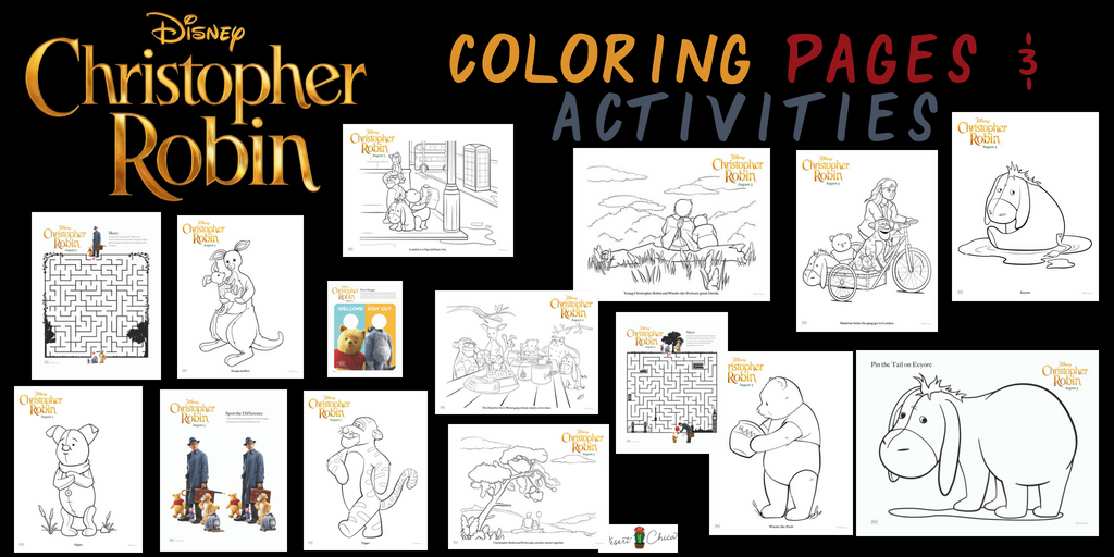 Printable Christopher Robin Coloring Pages and Activities