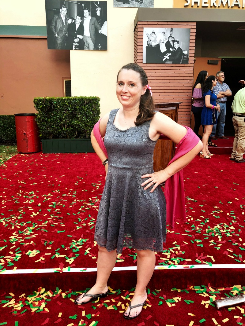 Eeyore Disneybounding on the Christopher Robin Red Carpet perfect for a group Winnie the Pooh Disneybound idea