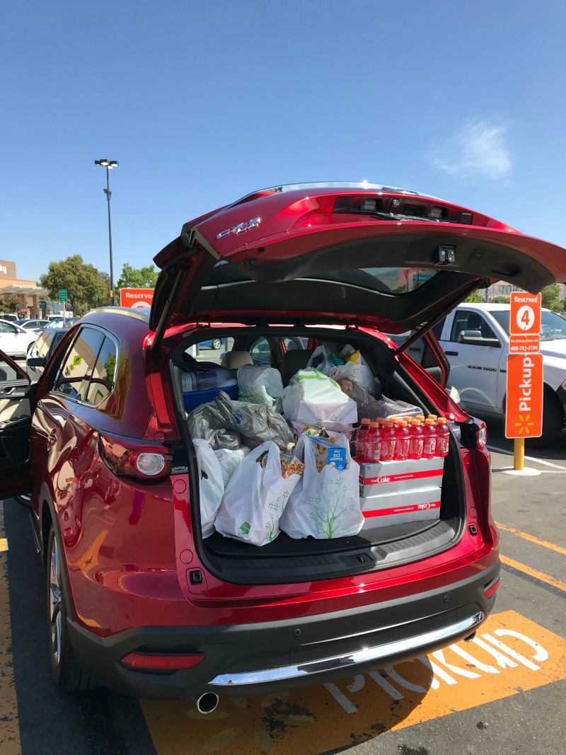 Yosemite Road Trip Tips - Drive a vehicle with lots of Trunk space