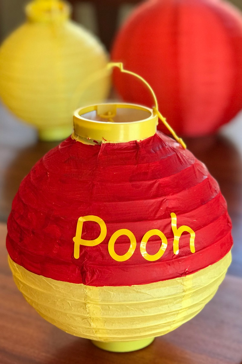 DIY paper lantern for Winnie the Pooh Party