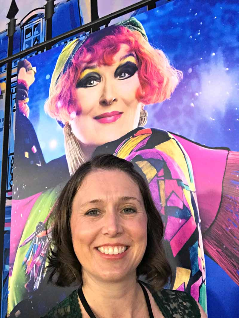 My selfie with Meryl Streep at Mary Poppins Returns World Premiere Red Carpet