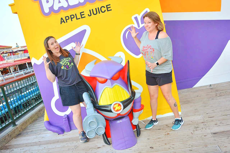 Fun Zurg Photo Op on Toy Story Boardwalk at Pixar Pier