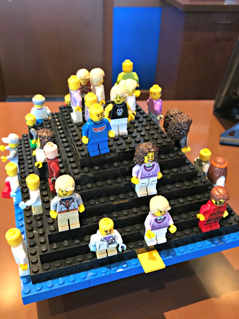 You will find Minifigures to trade at the LEGOLAND Castle Hotel in California.