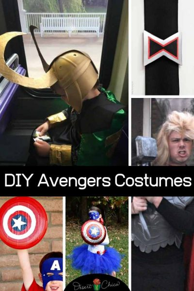 Various pictures of Avenger costume ideas