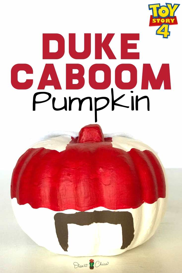 Pumpkin Craft decorated like Duke Caboom from Toy Story 4