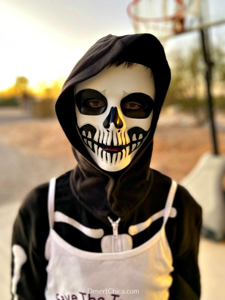 skeleton mask costume