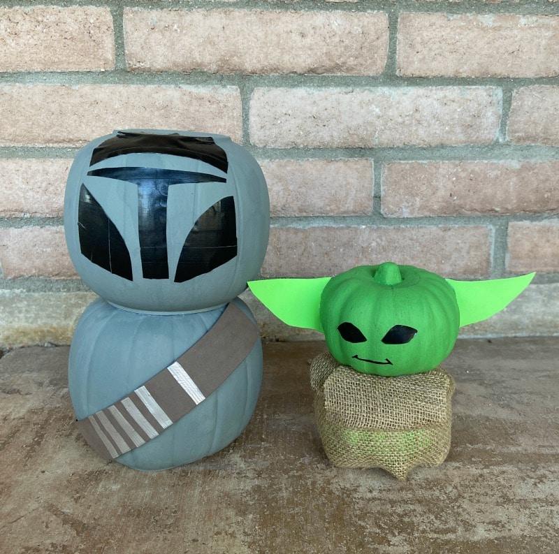 Mandalorian and Baby Yoda Pumpkin Crafts
