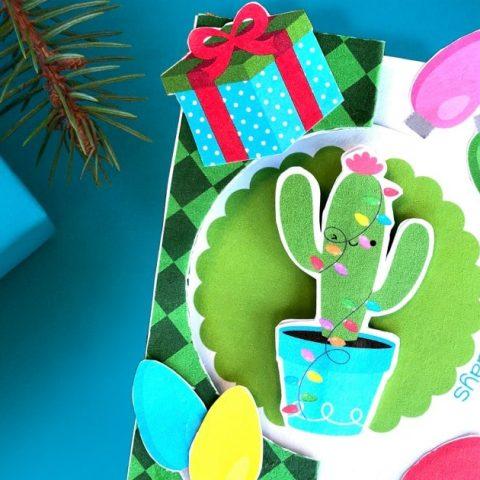 Christmas Cactus Card