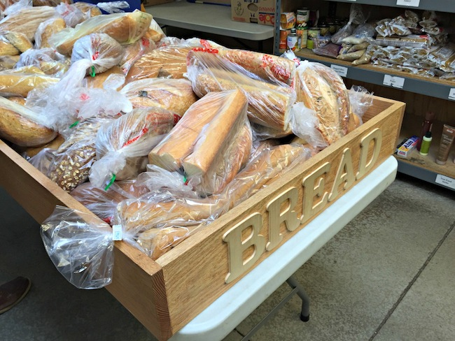 bread donated to ICS Tucson Food Bank