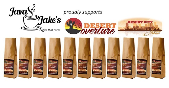 Now you can enjoy delicious coffee AND support Desert City Jazz and Desert Overture!