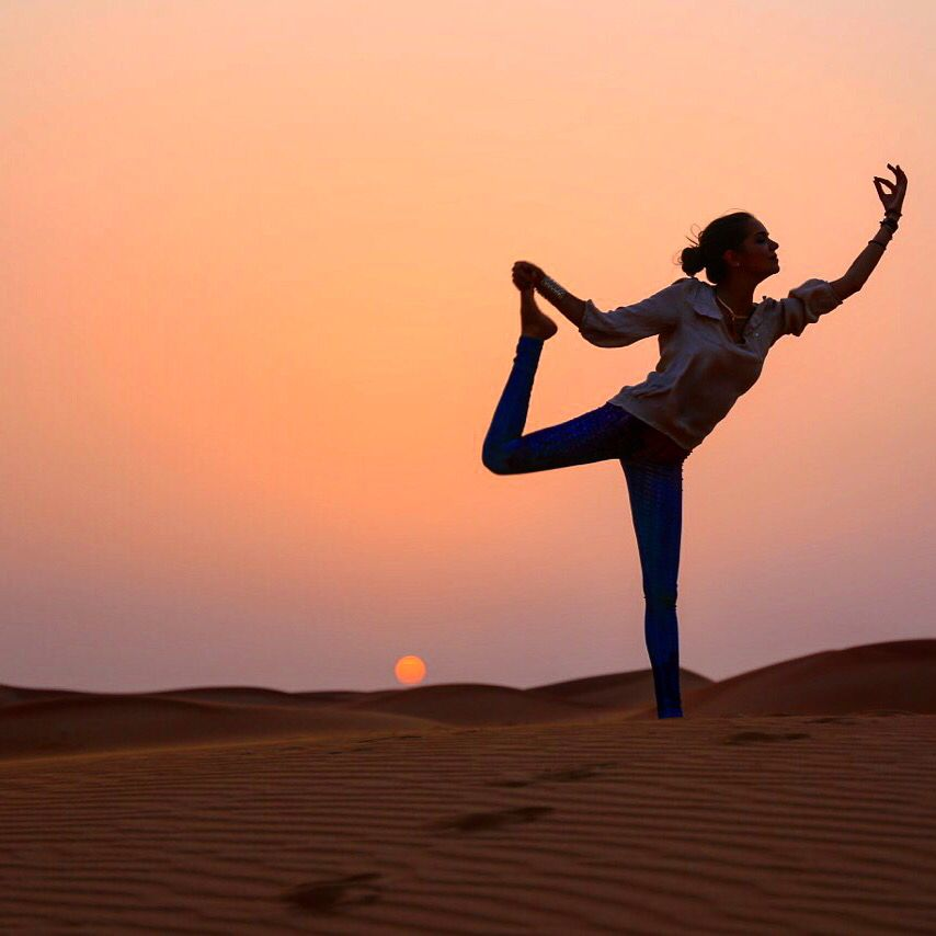 yoga in Merzouga sand