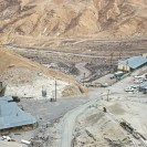 Ryan 1964 - A view of the borate mining camp at Ryan in Death Valley. There are a number of mines near this camp that were all worked extensively for colemanite before borax was discovered in the Kramer district closer to Los Angeles. Courtesy R. Currier.