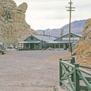 Ryan 1964 - A view of the borate mining camp at Ryan, California. Though none of the mines have been in operation for years, US Borax keeps a watchman on site to keep the tourists out. Courtesy R. Currier.