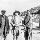 Left to right Jack Davis General Mine Foreman, Jean Tischner and Frank Sands at the Lila C mine, Courtesy National Park Service, Death Valley National Park
