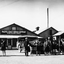 Ryan, California. Passengers arriving on Motor Coach from Death Valley Junction 1929 - Courtesy National Park Service, Death Valley National Park