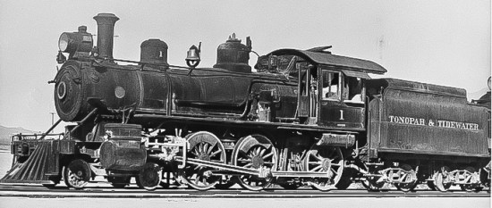 Tonopah & Tidewater Baldwin Locomotive - Courtesy National Park Service, Death Valley National Park