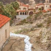 Scotty's Castle flood damage. NPS Photo by Kurt Moses