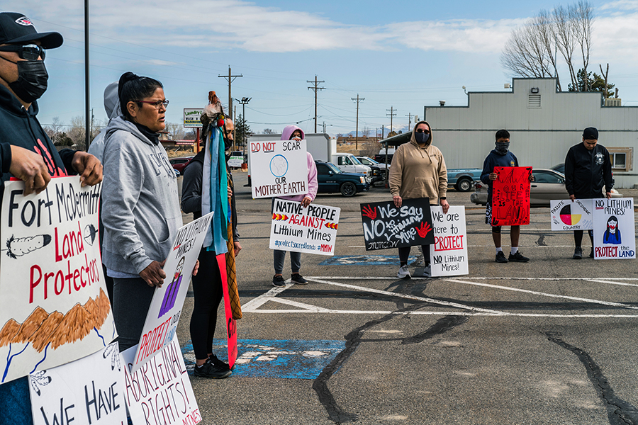» March 18, 2021, Members of the Fort McDermitt Paiute and ...