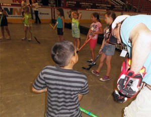 Ball Hockey Clinic at Jobing.com (now Gila River) Arena
