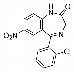 Chemical formula of klonopin clonazepam