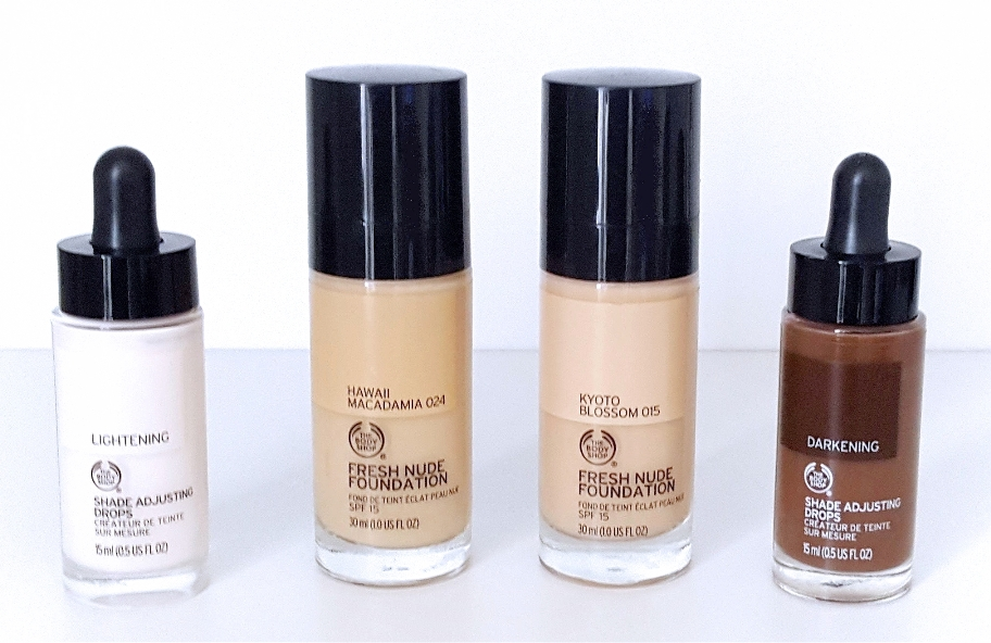 body shop foundation and drops small