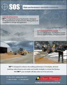 SOS-Deicing SOS Liquid Stockpile Treatment