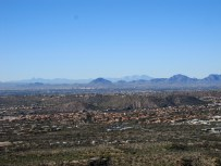 Looking west across Tucson.