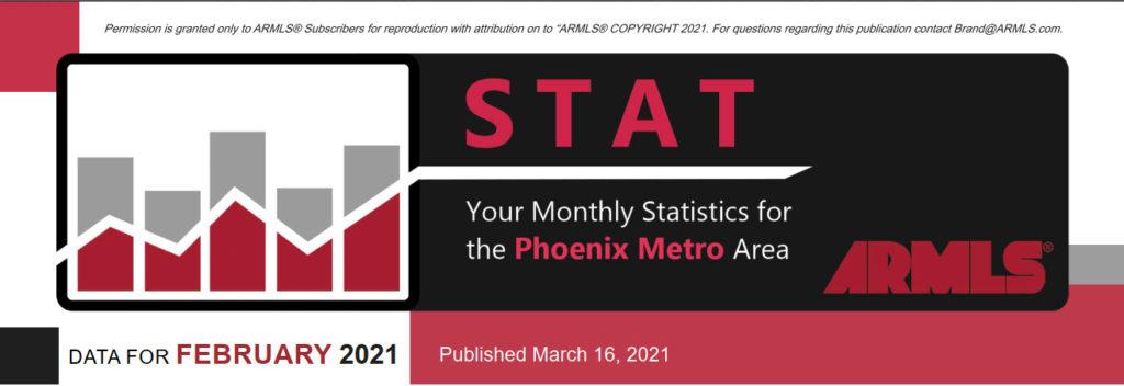 Real Estate Statistics March 2021 Phoenix Arizona - Hunter Clark and Nathan Mitchell