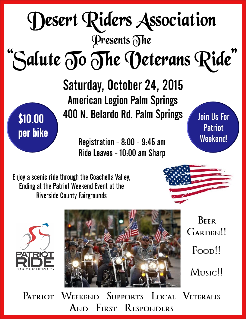 Salute To The Veterans Ride