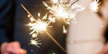 wedding gold sparklers