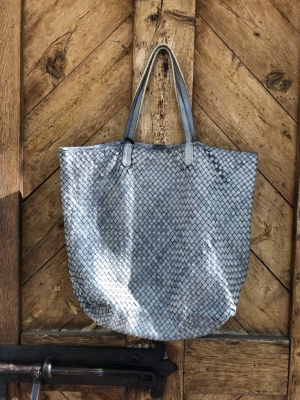 Woven Tote Grey
