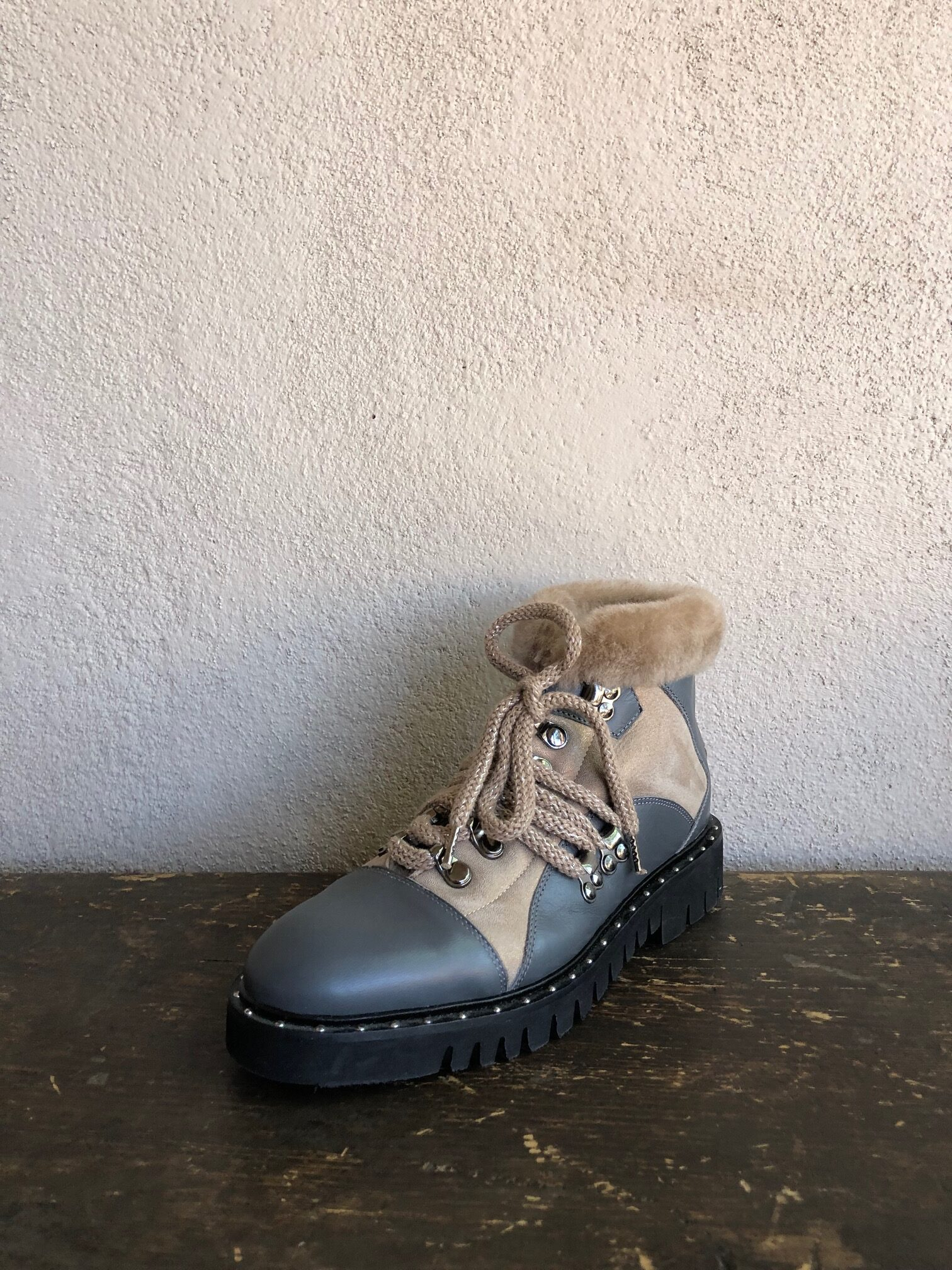 Lorena Antoniazzi Shearling/Leather Boot