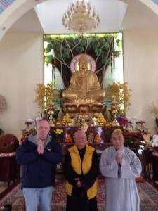 Brad with Master Tom, center