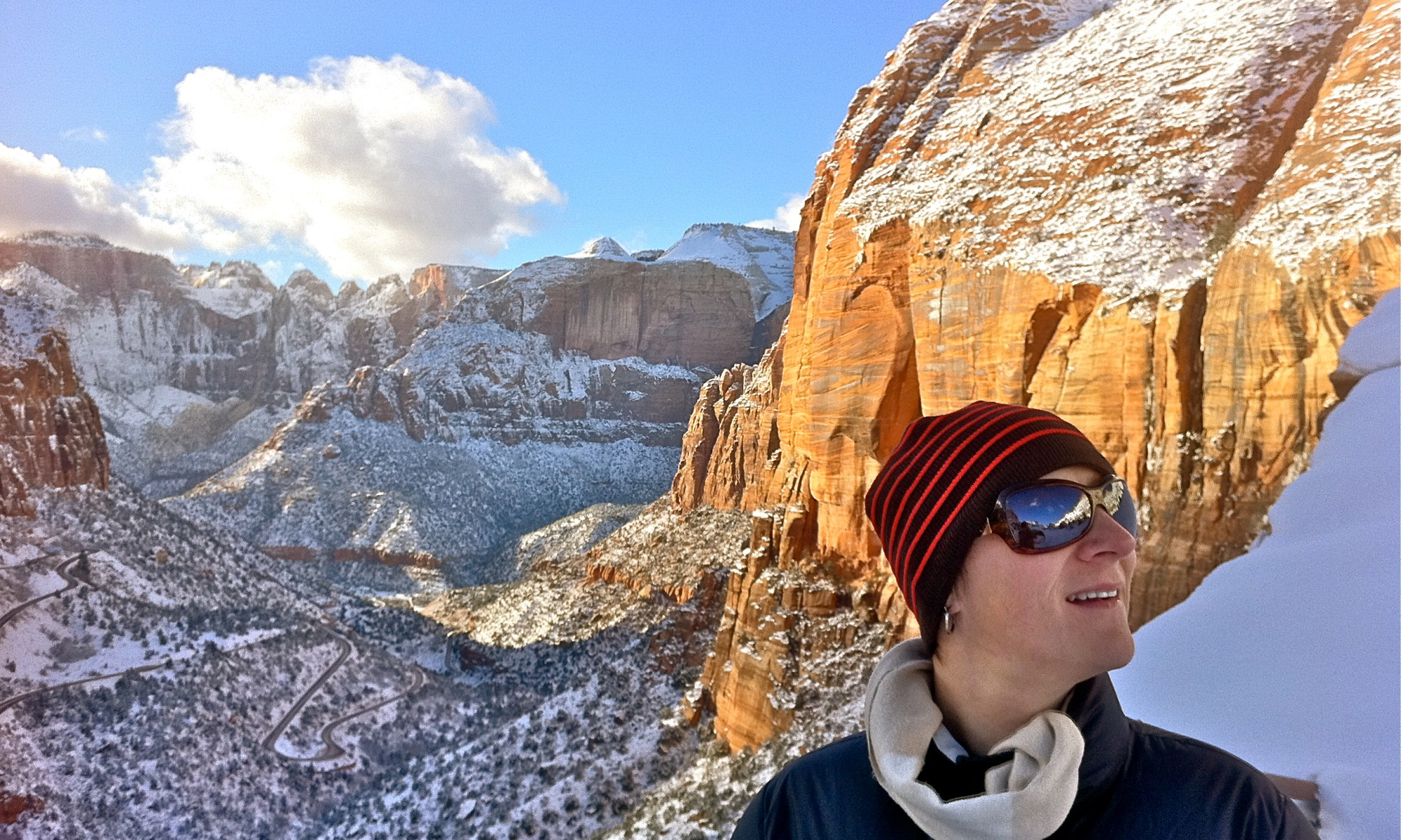 Kate looking great over ZION National Park