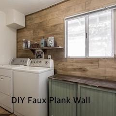 DIY Faux Plank Wall