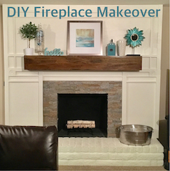 DIY Fireplace Makeover