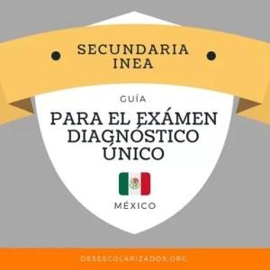 Guía para el exámen diagnóstico de secundaria INEA