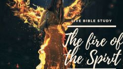 The fire of the Holy Spirit showing a woman on fire
