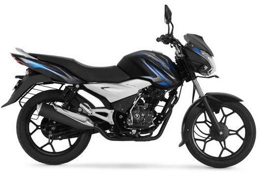 Bajaj Discover 125 ST Black and Blue