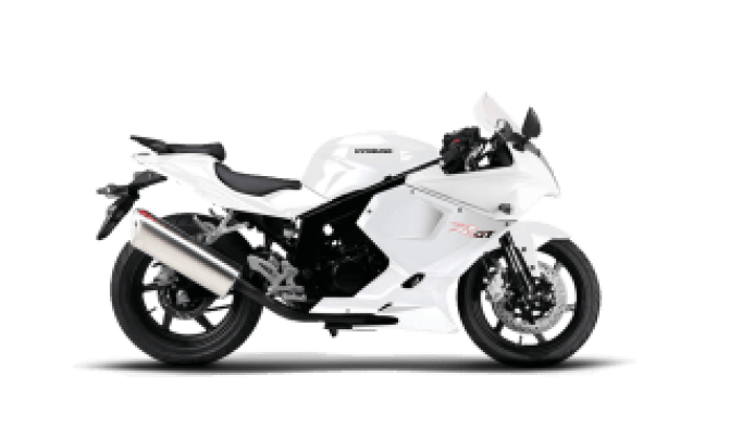 Race Hyosung GTR 125 White