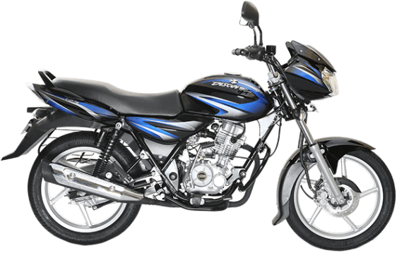 Bajaj Discover 125 Black and Blue