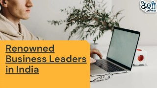 Renowned Business Leaders in India