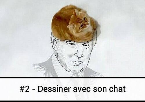 2 dessin de chat d tourn des hommes et des chats - Dessins de chats rigolos ...